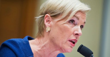 Cecile Richards, president of Planned Parenthood Federation of America, testifies during a House Oversight and Government Reform Committee hearing in Rayburn Building on whether PPFA should be federally funded, Sept. 29, 2015. (Photo: Tom Williams/CQ Roll Call/Newscom)
