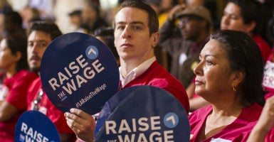The Los Angeles County Federation of Labor, which led the charge for a $15 minimum wage hike in California, is trying to get an exemption for employers under union contracts. (Photo: Ringo Chiu/ZUMA Press/Newscom)