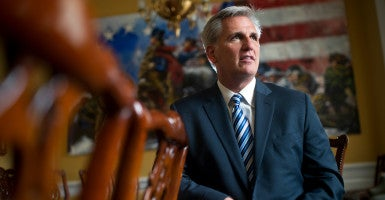 House Majority Leader Kevin McCarthy vowed to fight for conservative policies if elected House speaker during an appearance on Fox News Tuesday. (Photo: Tom Williams/CQ Roll Call/Newscom)