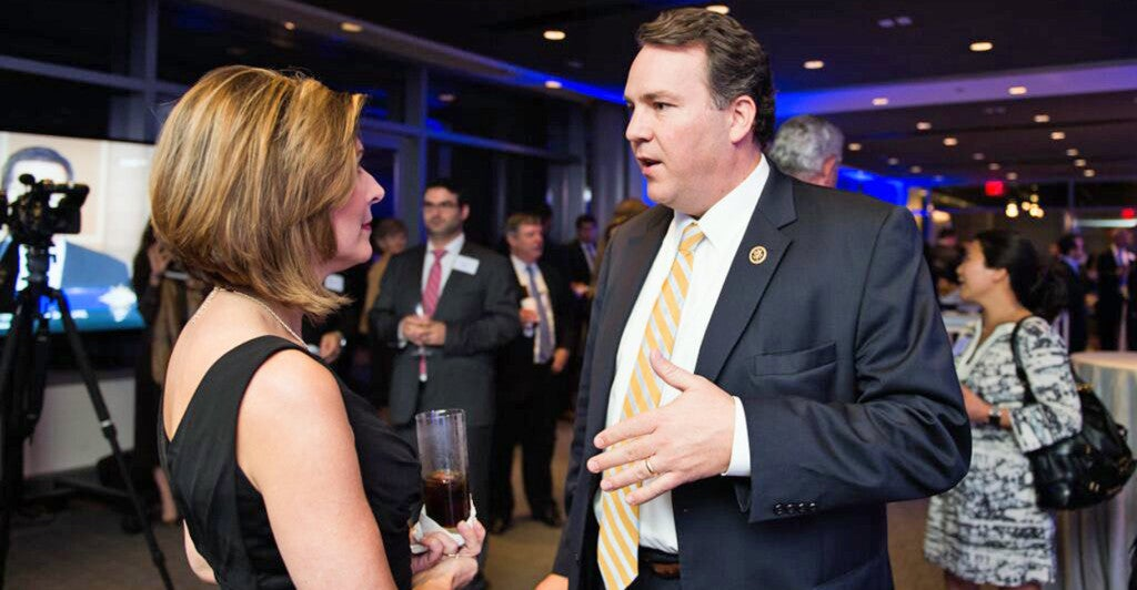 Rep. Alex Mooney, R-W.Va., speaks at Sharyl Attkisson at the Newseum. (Photo courtesy of Sinclair Broadcast Group)
