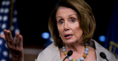 In a letter that was hand-delivered to House Minority Leader Nancy Pelosi's office, the Media Research Center called for her to apologize to a reporter for refusing to answer a question about when human life begins. (Photo: Tom Williams/CQ Roll Call/Newscom)