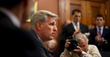 House Majority Leader Kevin McCarthy is dubbed the front-runner in the race for speaker.  But, conservatives warn, he doesn't have the nomination locked up. (Photo: Pete Marovich/Zuma Press/Newscom)