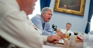 Rep. Daniel Webster, R-Fla., center, is the Freedom Caucus choice  for speaker. (Photo: Tom Williams/CQ Roll Call/Newscom)