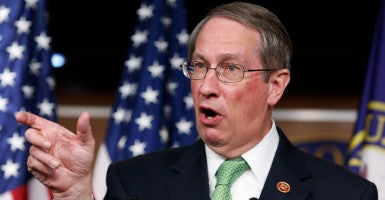 Reps. Bob Goodlatte (above) and John Conyers unveiled the Sentencing Reform Act of 2015 on Thursday. The bill aims to ensure fair and just federal sentences. (Photo: Yuri Gripas/Reuters/Newscom)