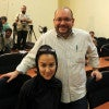 A file picture dated Sept. 10, 2013, shows The Washington Post Iranian-American journalist Jason Rezaian (right) and his Iranian wife Yeganeh Salehi (left) during a press conference in Tehran, Iran. (Photo: STR/EPA/Newscom)