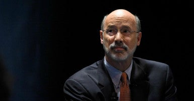 "Pennsylvania Gov. Tom Wolf was sent ""talking points"" from Planned Parenthood lobbyist Sari Stevens, according to the Pittsburgh Tribune-Review. (Photo: Mark Makela/Reuters/Newscom)"
