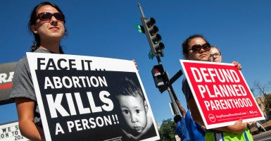American Life League and Stop Planned Parenthood International participate in the National Day of Protest on Aug. 22, 2015, at a proposed Planned Parenthood facility in Washington, D.C. (Photo: American Life League/Flickr/CC BY-NC 2.0)