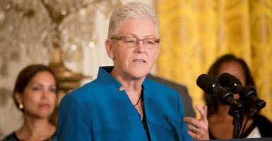 EPA Administrator Gina McCarthy introduces the 'Clean Power Plan' at President Obama's White House press conference Aug. 3.  (Photo: Patsy Lynch/Polaris/Newscom)