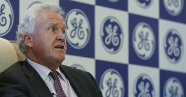 General Electric Co. Chairman Jeff Immelt, here in New Delhi on Sept. 21, says more jobs are likely to move overseas if Congress doesn't revive a government bank.  (Photo: Adnan Abidi/Reuters/Newscom)