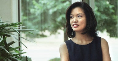 "Conservative columnist Michelle Malkin described how the H-1B visa program is causing American tech workers to lose their jobs to lower-wage foreign workers while discussing her new book, ""Sold Out,"" at a Center for Immigration Studies panel on Thursday. (Photo: The Washington Times/ZUMAPRESS/Newscom)"