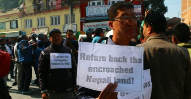 The trade dispute has sparked anti-Indian sentiment across Nepal. (Photo: Nolan Peterson/The Daily Signal)