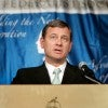 Supreme Court Chief Justice John Roberts addresses the 2010 convention of the Federalist Society. (Photo: Stefan Zaklin/EPA/Newscom).
