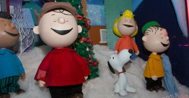 'The school district completely misunderstands the First Amendment,' a lawyer for a cast member's parent says.  (Photo of sculpted scene from 'A Charlie Brown Christmas': Jeff Malet Photography/Newscom)