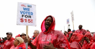 """It's getting harder and harder to argue that high minimum wages don't destroy many jobs, as advocates claim,"" Salim Furth, a research fellow in macroeconomics at The Heritage Foundation, said. (Photo: Antonio Perez/TNS/Newscom)"