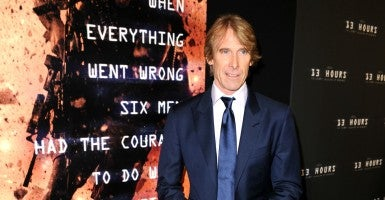 Michael Bay attends a special screening of 13 Hours. (Photo: Splash News/Newscom)