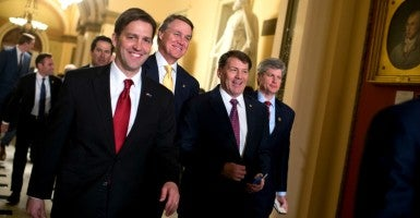Sen. Ben Sasse, R-Neb. (left).  (Photo: By Tom Williams/CQ Roll Call/Newscom)