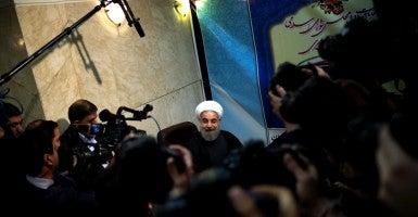 Iranian President Hassan Rouhani. (Photo: Morteza Nikoubazl/SIPA/Newscom)