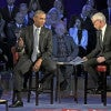 "A conservative activist has gone to court to stop executive actions to restrict guns by President Obama, here with CNN's Anderson Cooper in a Jan.  7 ""town hall"" on gun control. (Photo: Aude Guerrucci/Pool/Newscom)"