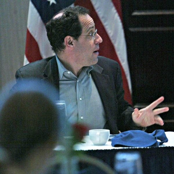 Bruce Katz speaks at a 2008 event at the Brookings Institution in Washington, D.C. (Photo: Carrie Devorah/WENN/ Newscom)