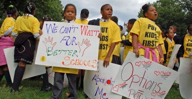 National School Choice Week began Sunday and runs through Jan. 30. (Photo: Rob Bluey/The Daily Signal)