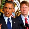 President Barack Obama with Director of the Consumer Financial Protection Bureau Richard Cordray. (Photo: Ron Sachs/CNP / Polaris/Newscom)