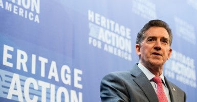 Heritage Foundation President Jim DeMint, here addressing the 2015 Conservative Policy Summit, is set to speak at the 2016 edition. (Photo: Bill Clark/CQ Roll Call/Newscom)