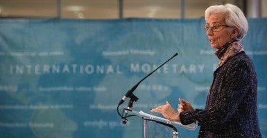 Managing Director of the International Monetary Fund Christine Lagarde. (Photo: Pool/Reuters/Newscom)