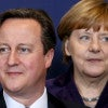 British Prime Minister David Cameron and German Chancellor Angela Merkel are among European leaders concerned about assimilation these days. (Photo: Francois Lenoir/Reuters/ Newscom)