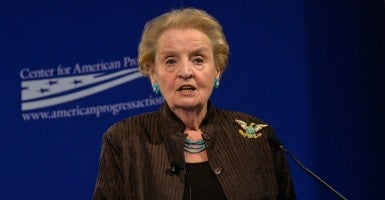 Former U.S. Secretary of State Madeleine Albright. (Photo: Bao Dandan Xinhua News Agency/Newscom)