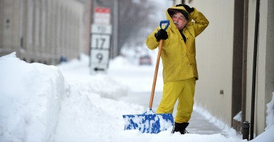 New Jersey Gov. Chris Christie recently signed a bill removing the need for a license to shovel snow. (Photo: Cloe Poisson/Hartford Courant/TNS/Newscom)