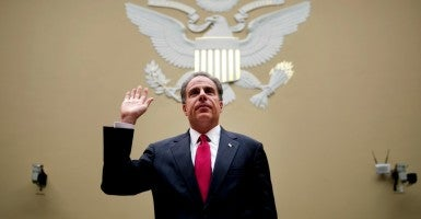 Justice Inspector General Michael Horowitz testifies before the  House Oversight and Government Reform committee on Operation Fast and Furious. (Photo: Chris Maddaloni/CQ Roll Call/Newscom)