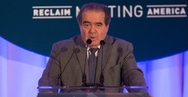 """A law can be both economic folly and constitutional,"" Supreme Court Justice Antonin Scalia, pictured here at a Heritage Foundation event in October 2015, once said. (Photo: Jeff Malet for The Daily Signal)"