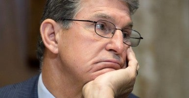 Sen. Joe Manchin, D-W.Va., is one of four pro-gun Senate Democrats who won't say whether they'll support President Obama's Supreme Court nominee. (Photo: Michael Reynolds/EPA/Newscom)