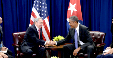 Choosing to level with Castro in his own turf is Obama's latest and most damaging concession yet. (Photo: Anthony Behar/AdMedia/Newscom)