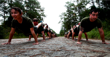 Advocates for it have made the demonstrably false claim that women are physically capable of anything military men are while decades of military and sports medicine studies prove the opposite. (Photo: U.S. Marine Corps photo by Lance Cpl. Caleb McDonald/Released)