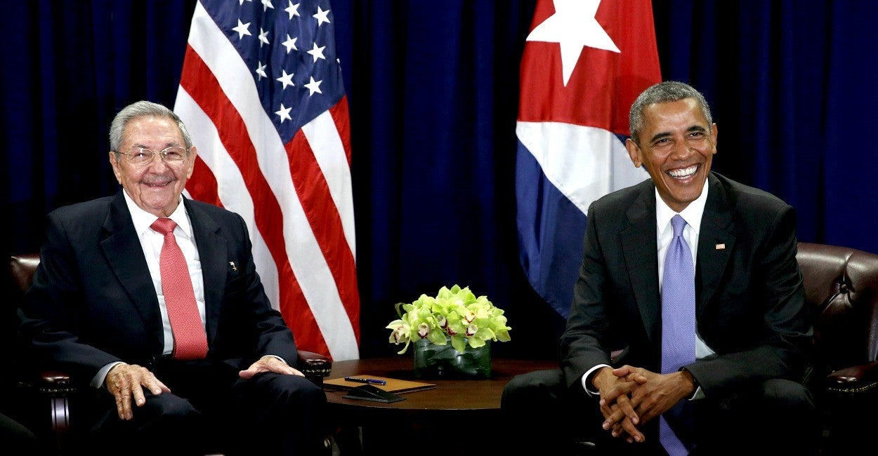 Obama, Raúl Castro Espín