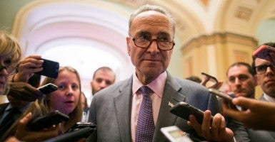 Sen. Chuck Schumer, D-N.Y., and other  Democrats say they aren't worried about the GOP's pledge not to consider any Supreme Court nominees this year.  (Photo: Congressional Quarterly/CQ Roll Call/Newscom)