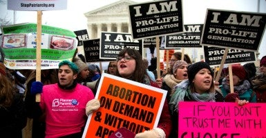 """The 43rd Annual """"March for Life"""" in front of the Supreme Court in Washington D.C. on Jan. 22. (Photo: Jeff Malet Photography/Newscom)"""
