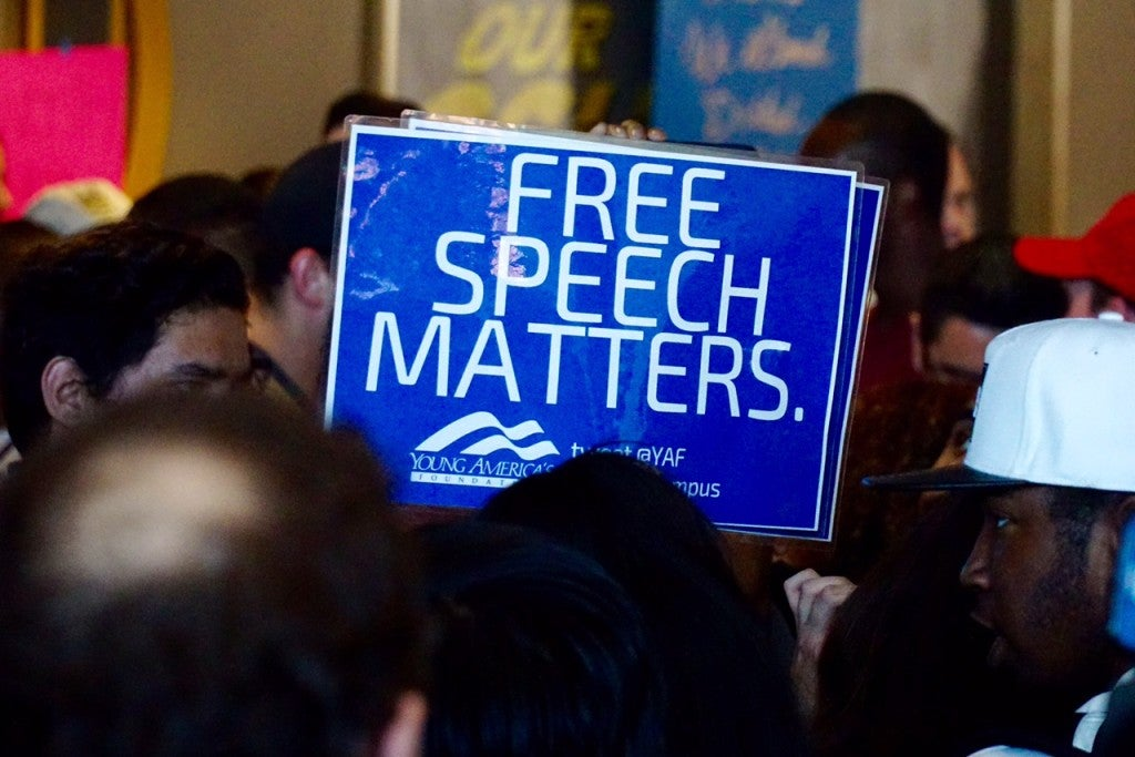 """Not only is free speech under attack, but it's also very difficult to be a conservative on a college campus,"" YAF's Amy Lutz said. (Photo: Jacqueline Pilar/Young America's Foundation)"