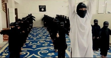 Islamic State propaganda video. (Photo: Balkis Press / Sipa USA/Newscom)