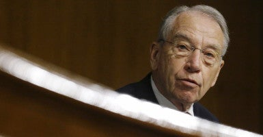 U.S. Senate Judiciary Committee Chairman Charles Grassley (R-IA) presides over a hearing on U.S. immigration enforcement policies, on Capitol Hill in Washington July 21, 2015. REUTERS/Jonathan Ernst