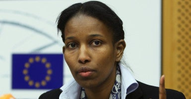 """""""We the people have to educate ourselves on exactly what the threat is,"""" Ayaan Hirsi Ali, a human rights activist, said. (Photo: Francois Lenoir/Reuters /Newscom)"""