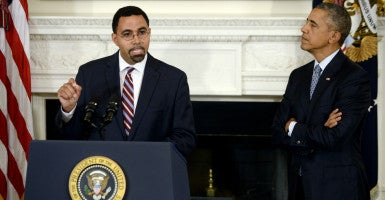 A Senate committee approved President Obama's nomination of John King Jr. as secretary of education. Educators, parents and public officials in New York criticized King's appointment, citing his tenure as commissioner of the New York State Education Department where he oversaw the rollout of Common Core. (Photo: Olivier Douliery/ZUMA Press/Newscom)