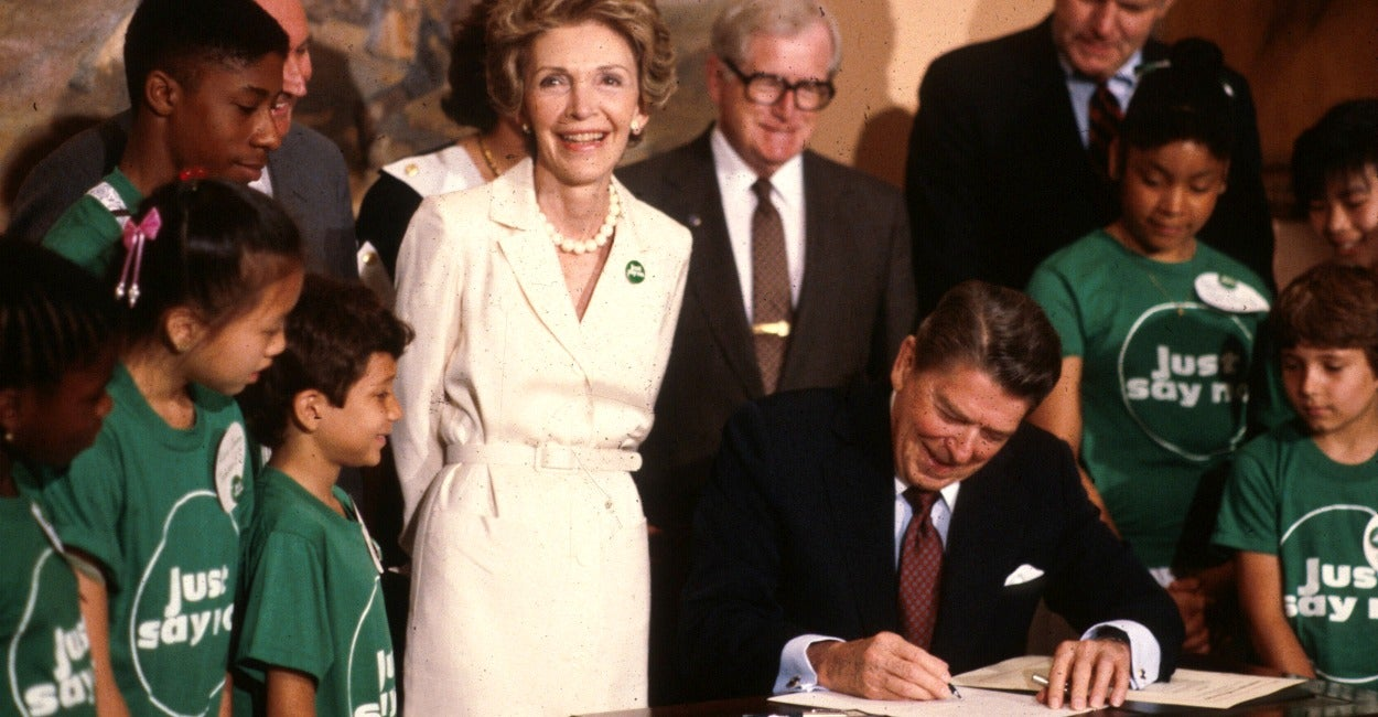 Nancy Reagan S Just Say No Campaign Helped Halve Number