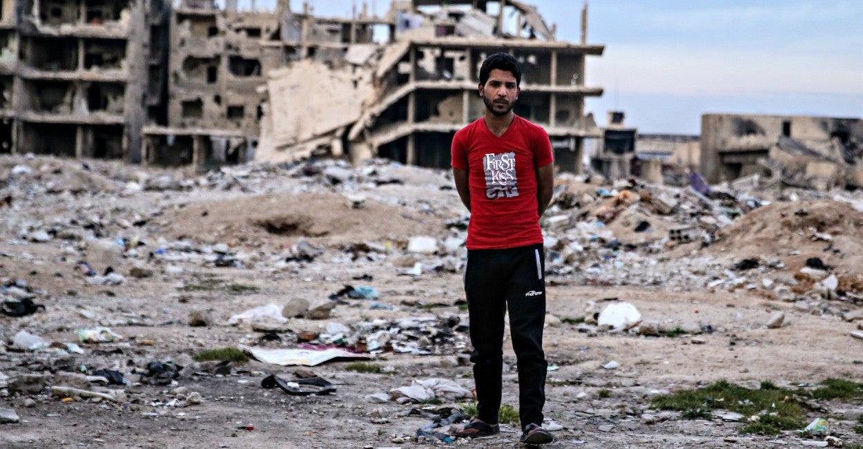 Damasco, barrio en zona de cese al fuego