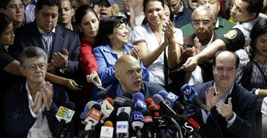 Jesus Torrealba, secretary of Venezuela's coalition of opposition parties. (Photo: Marco Bello/Reuters/Newscom)