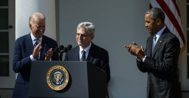 Supreme Court nominee Merrick Garland. A Supreme Court with Garland would very likely overturn District of Columbia v. Heller (2008), which found the Second Amendment guarantees an individual's right to keep and bear arms. (Photo: Pat Benic/UPI/Newscom