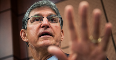 "Sen. Joe Manchin, D-W.Va, has an ""A-"" rating from the NRA but he still wants the Senate to move forward with considering Merrick Garland for the Supreme Court. (Photo: Tom Williams/CQ Roll Call/Newscom)"
