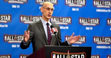 NBA commissioner Adam Silver. (Photo: Bob Donnan/USA Today Sports/Newscom)