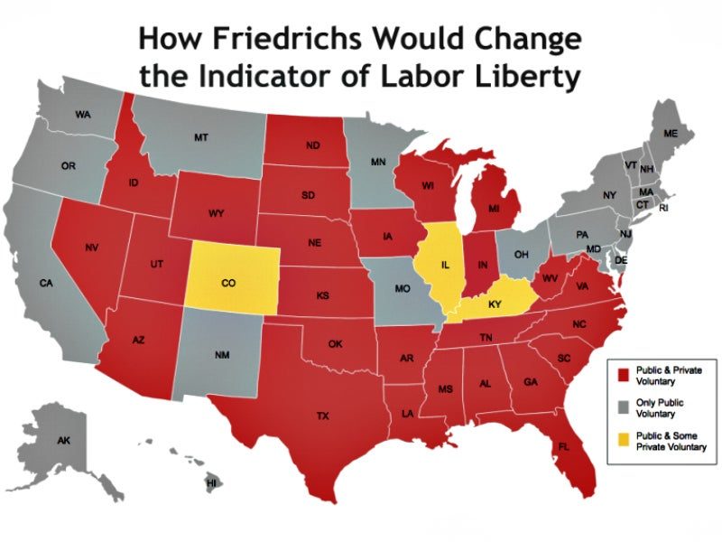 Right To Work States Map 2016.Illinois Town A New Front On Nation S Right To Work Map